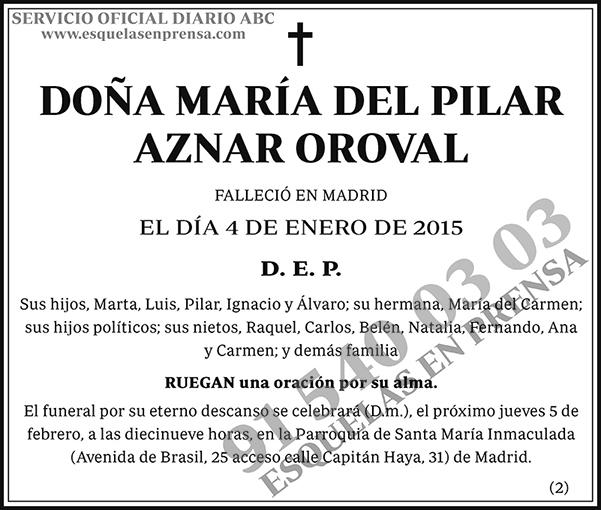 María del Pilar Aznar Oroval